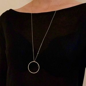 Jewelry - 5 for $25 Long Circle Pendant Statement Necklace